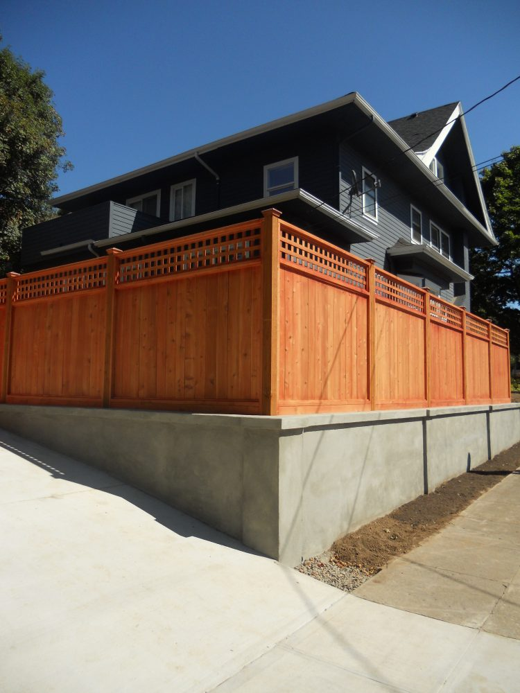 Outside Fence and Retaining Wall-use on house in contact us section